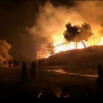 Brann i Moria leir