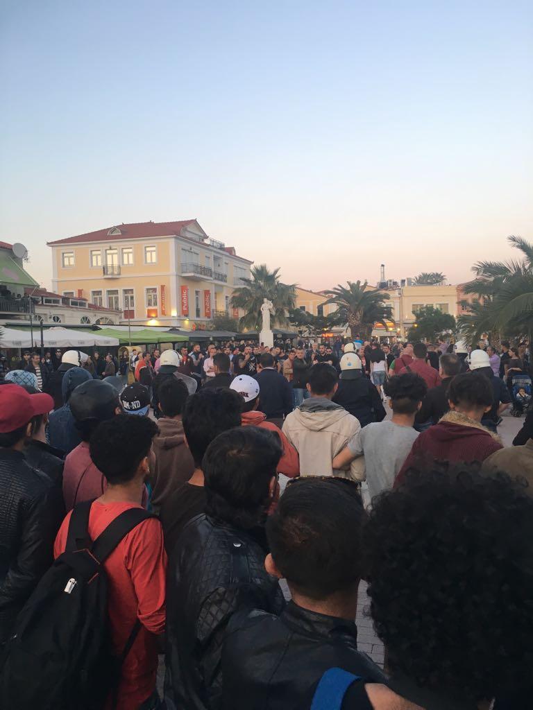 demonstrasjon-flyktninger-Lesvos-mai-2018